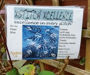 Xstitch Xcellence Season's Glory Winter Pearl Blue Cross Stitch Kit